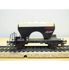 Märklin Insider 46582,  wagon plat à niveau à bulles  DB  Neuf  BO