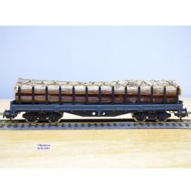 ELECTROTREN 5124,  wagon plat chargé de troncs d'arbre   RENFE   neuf   BO