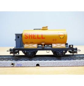 ELECTROTREN  907 / 3, wagon citerne à guérite SHELL RENFE   BO
