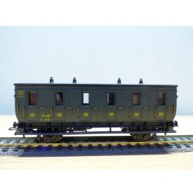 ELEC TRAINS  4P3 , voiture ancienne 3 ème classe  Dames seules  type C 6    N°: 3014  PLM   BO