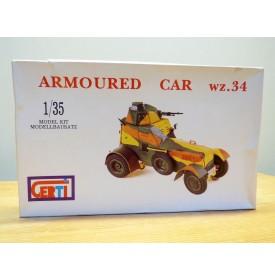CERTI  3501, voiture automitrailleuse  blindée ( armoured car )  type wz.34  neuf  BO  1/35