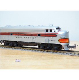 FLEISCHMANN 1343,  loco diesel  EMD  ( General Motors ) F7  unité A  BURLINGTON   BO