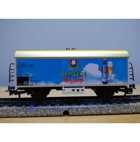 Märklin ( Franz Carl Weber ) 97007 / 4415.060,  rare wagon couvert réfrigérant type Ichqrs 377 DB Spatenbrau  Neuf  BO