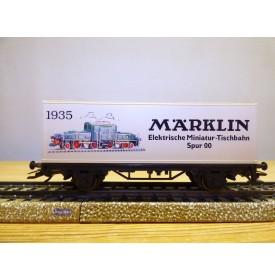 Märklin 95704 / 4481,  wagon plat porte conteneurs 60 Jahre Märklin Tischbahn  DB  BO