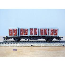 Märklin 4767,  wagon plat porte conteneurs type Lgjs 598 VON HAUS ZU HAUS DB BO