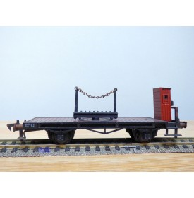 FLEISCHMANN 1483,  wagon plat à plmate forme pivotante ( Drehschemelwagen ) à guérite  DB  BO