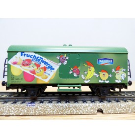 Märklin  Hobby  44177,  wagon couvert réfrigérant  Ichqrs 377  Fruchtzwerge  DANONE  DB  Neuf   BO