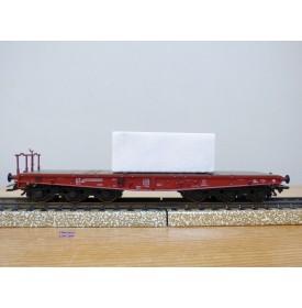 Märklin 48662,  wagon plat pour charges lourdes type Salmmp chargé d' un bloc de marbre  véritable  FS   neuf    BO