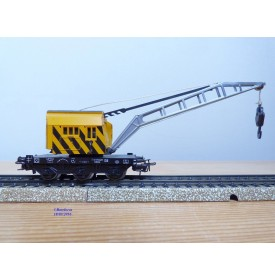 Primex 4556 ( Märklin 4611 ),  wagon grue KRUPP ARDELT  jaune  DB