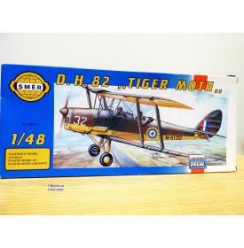 """SMER 0811,  biplan britannique  DE HAVILAND 82  """" Tiger Moth """"   neuf    BO 1/48"""