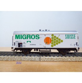 Märklin  48150,  wagon couvert  réfrigérant type Tmmehs 50   MIGROS  SUISSE   DB   Neuf   BO