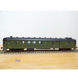 France Trains  224,  voiture OCEM à flancs lisses mixte 3ème classe/ fourgon à vigie  type C5 D  SNCF