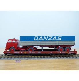 LILIPUT ( WIKING  510 a ) 200 L / 20002 ,   wagon  Rollende Landstrasse et camion MAN  Danzas   DB   Neuf   BO