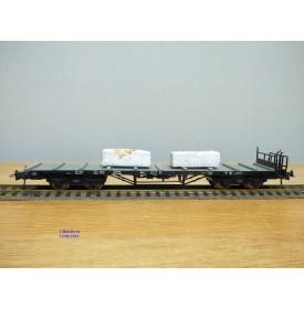 ROCO 47758, wagon plat chargé de blocs de marbre DRG BO