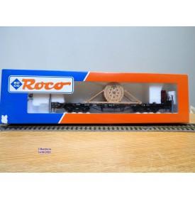 ROCO 47194, wagon plat chargé d'un rouleau de cable  SÜDKABEL DRG  neuf   BO