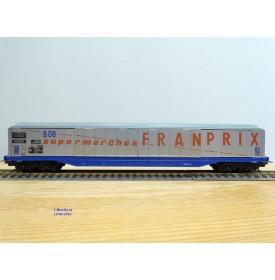 LIMA véro  30 3198, wagon à parois coulissantes Habis Supermarchés FRANPRIX  EVS  SNCF  neuf    BO