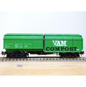 ROCO 4368, wagon spécial pour engrais VAM  COMPOST   NS    Neuf   BO