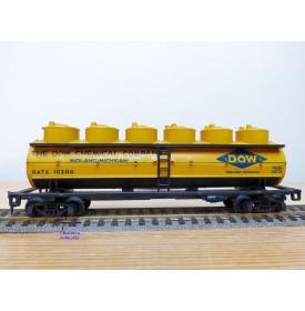 AHM ( Liliput) 5429 F, wagon citerne à 6 cuves DOW CHEMICAL     BO