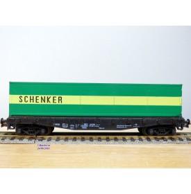 ROCO 4318,  wagon plat chargé d'un conteneur  40'    SCHENKER    DB   BO