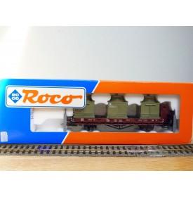 ROCO 47045, wagon plat avec 3  groupes réfrigérants   type   Ro   DR   Neuf   BO