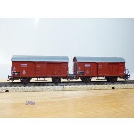 Märklin 48791, coffret 2 wagons et chargements Die junge DB   DB  BO