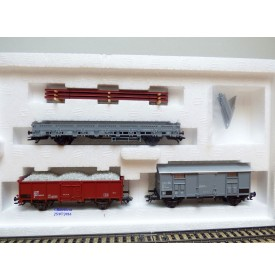 Märklin  47876, coffret train de travaux italien 3 wagons  FS   neuf    BO