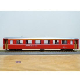 BEMO  3252 128, Voiture unifiée rouge 1 Kl. Ferrovia Retica N°: A 1228   RhB  BO