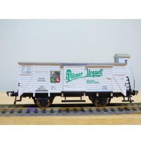 FLEISCHMANN 5357,  wagon couvert  à guérite  PILSNER URQUELL    DR   neuf  BO