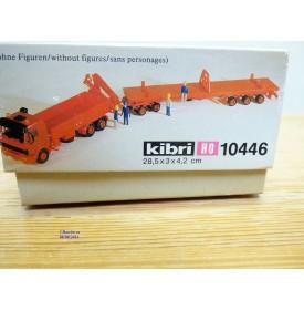 KIBRI 10446, camion MERCEDES BENZ  2644  et remorque surbaissée  Goldhofer  DB   HO   neuf  BO  1/87
