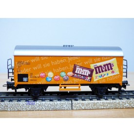 Märklin  44187,  wagon couvert réfrigérant  Ichqrs 377  M&M's    DB   Neuf    BO
