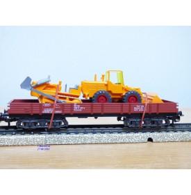 Märklin 4474 . 1, wagon   plat   type Rlmms    DB   neuf     BO