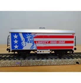 Märklin  88703 / 4415,  wagon couvert réfrigérant  LIBERTY  1886 - 1986    BO