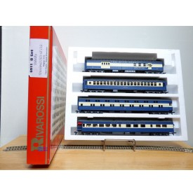 "RIVAROSSI ""véro"" 6911 set B, coffret 4 voitures heavyweight  Blue Comet CNJ   BO"
