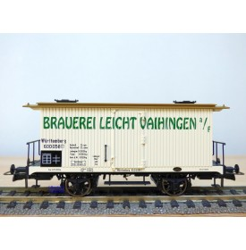 BRAWA 2101, wagon couvert à bière BRAUEREI LEICHT VAIHINGEN  K.W.S.t.b.   neuf   BO