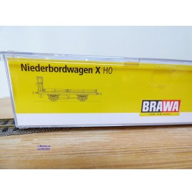 BRAWA 48001, wagon plat à guérite type X München    K.B.S.t.b.   neuf   BO