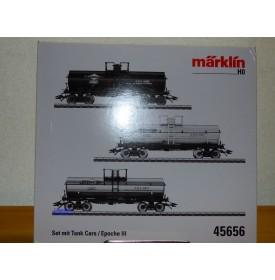 Märklin 45656, coffret de 3 wagons citernes ( tank cars  ) US  SUNOCO    neuf   BO