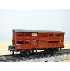 TRIX EXPRESS  20/119, wagon couvert pour transport de volaille  type Altona  DB  BO
