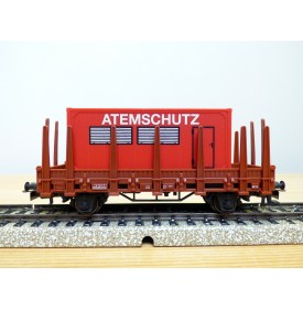 Märklin 00752-03, wagon   plat  à ranchers type Kbs 890  ATEMSCHUTZ     DB   neuf     BO