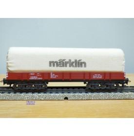 Märklin 4475,  wagon plat bâché  à bogies type Rlmms  MÄRKLIN  DB   BO