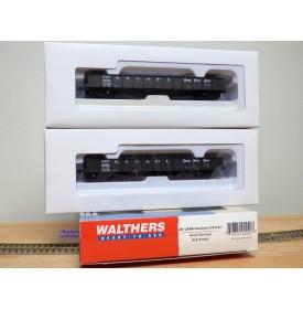 WALTHERS 932 27455, coffret de 2 wagons tombereau ( Gondola )   Nickel Plate Road ( NKP )   Neuf   BO