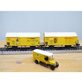 Märklin 4876, coffret 2 wagons et camion  BANANEN   DRG   neuf    BO