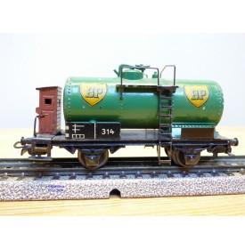 Märklin ancien  314 BP . 1, wagon citerne  BP