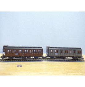 ROCO 44013,  2 wagons anciens  à 3 essieux et guérite  KPEV   neuf   BO