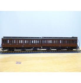 ROCO 44499,  couplage de 2 wagons anciens  à 3 essieux    KPEV   neuf   BO