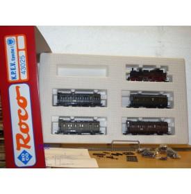 ROCO 43025,  coffret 1 loco et 4 voitures KPEV  Epoque I   neuf    BO