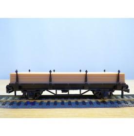 HORNBY acHO 7172, wagon plat à ranchers  avce chargement de bois  SNCF  Neuf  BO