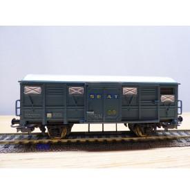 ELECTROTREN  1316,  wagon couvert    SEAT  RENFE     BO