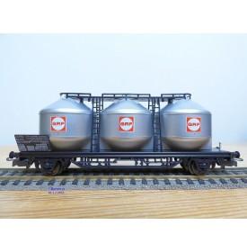 ELECTROTREN  1604,  wagon à 3 silos pour pulvérulents  type Ucs  GRP   FS        BO