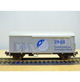 """SACHSENMODELLE 78812, wagon couvert publicitaire """"Abschied  von der DM """" DR  neuf     BO"""
