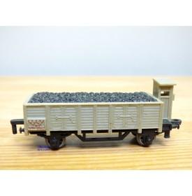 Rail Route  1/143 ème , wagon tombereau à guérite gris avec chargement de charbon